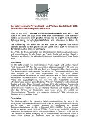 Der österreichische Private Equity- und Venture Capital ... - Die Avco