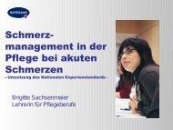 Schmerzmanagement, Brigitte Sachsenmaier