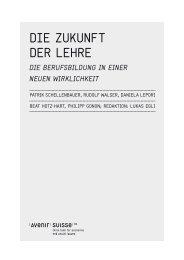 Die zukunft Der Lehre - Avenir Suisse