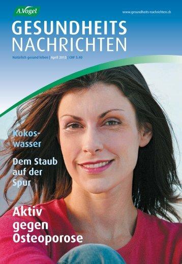 GESUNDHEITS NACHRICHTEN - A.Vogel