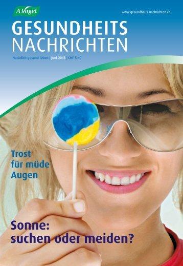 GESUNDHEITS NACHRICHTEN - Verlag A.Vogel AG