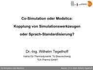 Co-Simulation oder Modelica: Kopplung von ...