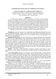ANTIOXIDATIVE POTENTIAL OF AGRIMONIA EUPATORIA L