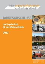 jahresabschluss - Abfallwirtschaftsbetrieb des Landkreises Rastatt