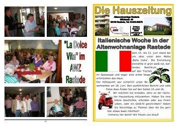 Heft 3/2009 - AWO Bezirksverband Weser-Ems