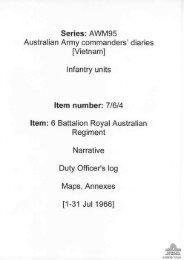 AWM95, 7/6/4 - Australian War Memorial