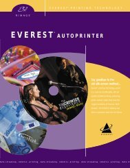 View Everest CD Printer PDF Data Sheet - Advanced World Products