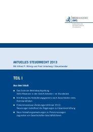 Aktuelles Steuerrecht 2013 mit Alfred P. Röhrig und Fred Unterberg ...