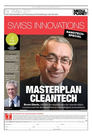 Masterplan Cleantech - awtec AG für Technologie und Innovation