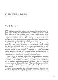 DER VERLEGER. Von Michael Jürgs - Axel Springer AG