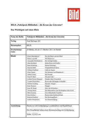 Factsheet Nobelpreis Bibliothek - Axel Springer AG