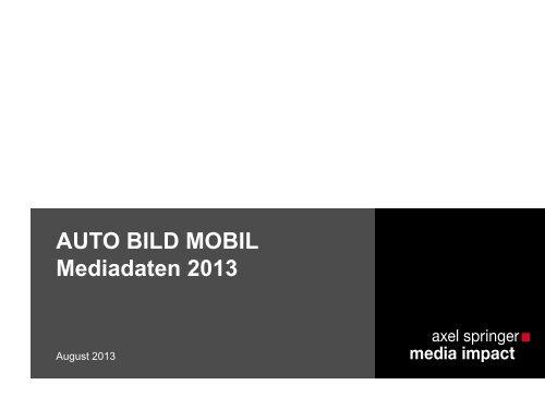 AUTOBILD MOBIL - Axel Springer MediaPilot