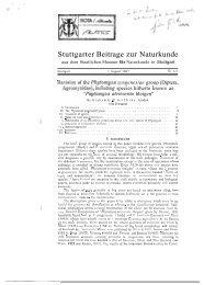 Stuttgarter Beitrage zur Naturkunde