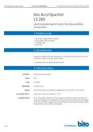 Technisches Datenblatt LS 260 - Bito AG