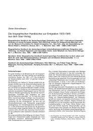 Die biographischen Handbücher zur Emigration 1933-1945 aus ...