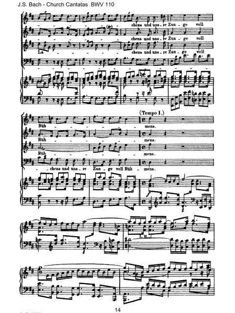 Score Vocal & Piano - Bach Cantatas