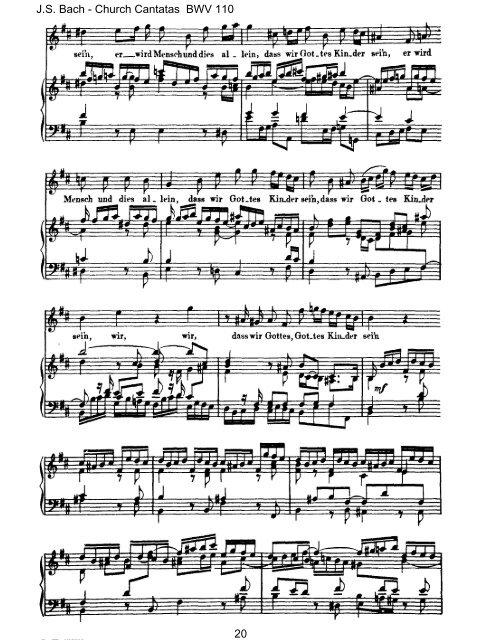 Score Vocal & Piano - Bach Cantatas