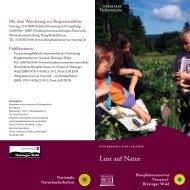 Lust auf Natur - Biosphärenreservat Vessertal-Thüringer Wald