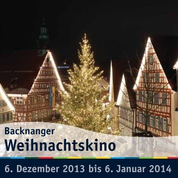 Programm Weihnachtskino 2013 - Stadtmarketing Backnang
