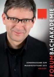 F O R U M B A C H A K A D E M IE - Internationale Bachakademie ...