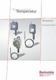 Mechanische Temperaturschalter Titelseite - Bachofen AG