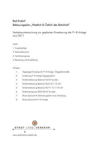 """Bad Endorf Bebauungsplan """"Westlich & Östlich des Bahnhofs ..."""