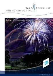 Kultur- & Veranstaltungsprogramm 2013 - PDF zum ... - Bad Füssing
