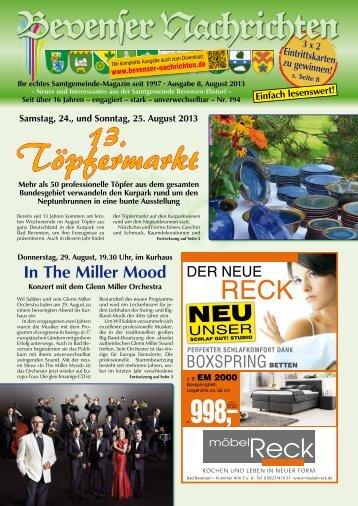 August 2013 - Bevenser Nachrichten