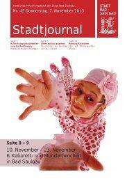 Stadtjournal Ausgabe 45/2013 - Stadt Bad Saulgau