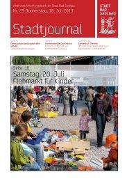 Stadtjournal Ausgabe 29/2013 - Stadt Bad Saulgau