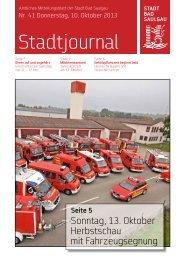 Stadtjournal Ausgabe 41/2013 - Stadt Bad Saulgau