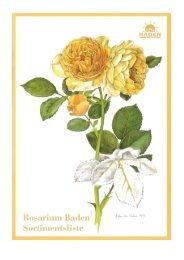 Rosarium Baden – Sortimentsliste