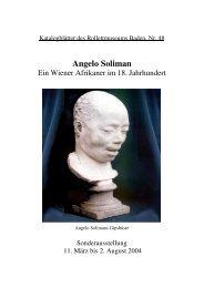Angelo Soliman. Ein Wiener Afrikaner im 18. Jahrhundert - Baden