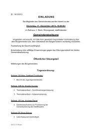 EINLADUNG Gemeinderatssitzung - Baden