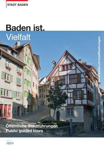 Baden ist. Vielfalt - Stadt Baden