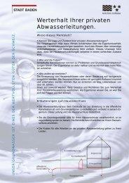 Werterhalt Ihrer privaten Abwasserleitungen [PDF ... - Stadt Baden
