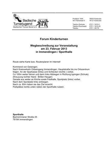10.03. Bad. Schwarzwald Turngau - Badischer Turner Bund