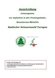 Kadertest - Badischer Schwarzwald Turngau
