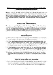 Gefahrenabwehrverordnung zum Schutz vor Lärm und Missbrauch ...