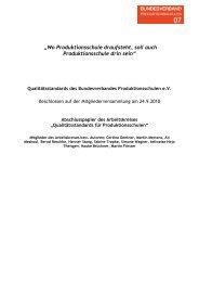 """""""Wo Produktionsschule draufsteht, soll auch Produktionsschule drin sein"""""""