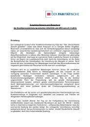 Zusammenfassung und Bewertung der ... - BAG-SB