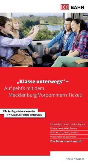 Infos zum Schulprojekt, zum Mecklenburg-Vorpommern ... - Bahn