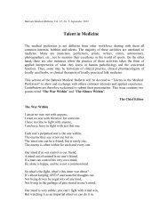 Talent in Medicine - Bahrain Medical Bulletin