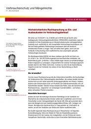 Verbraucherschutz und Mängelrechte - Baker & McKenzie