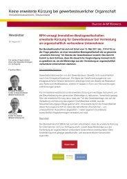 Baker & McKenzie Newsletter Keine erweiterte Kürzung bei ...