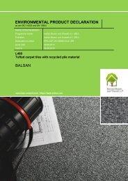 Environmental Product Declaration (EPD) - Balsan