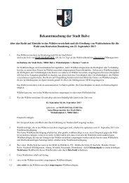 Bekanntmachung der Stadt Balve über das Recht auf Einsicht in das ...