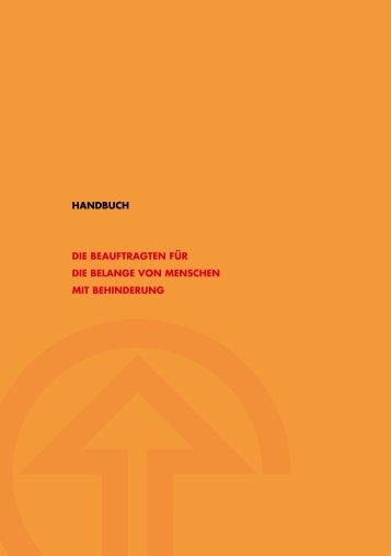 Handbuch der Beauftragten für die Belange von Menschen ... - BAR