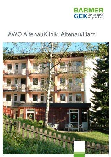 AWO AltenauKlinik - Altenau ( PDF , 279 KB ) - Barmer GEK