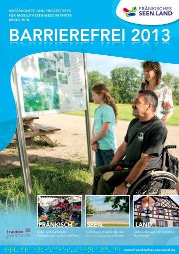 BARRIEREFREI 2013 - AG Barrierefreie Reiseziele Deutschland